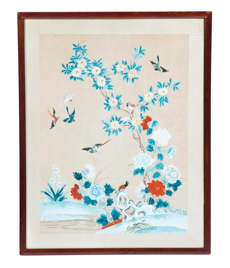 FLORAL STUDY BY WON TAI (CHINA, 20TH CENTURY).