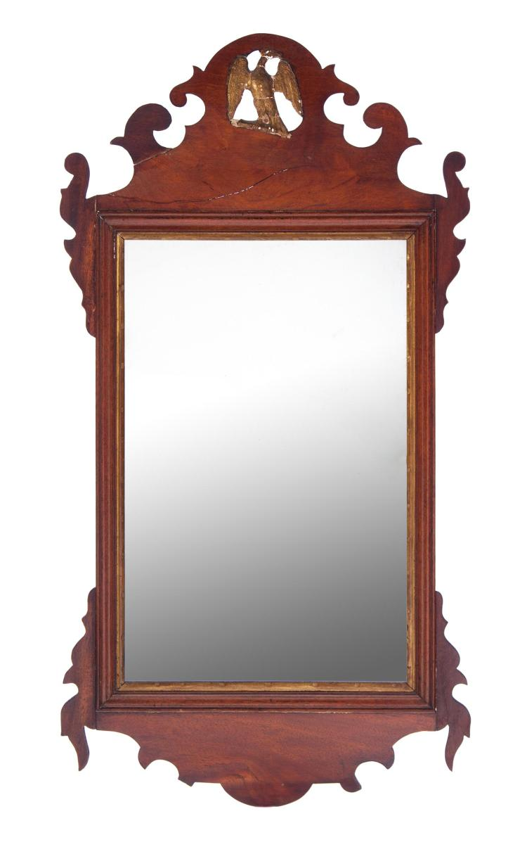 AMERICAN CHIPPENDALE MIRROR.
