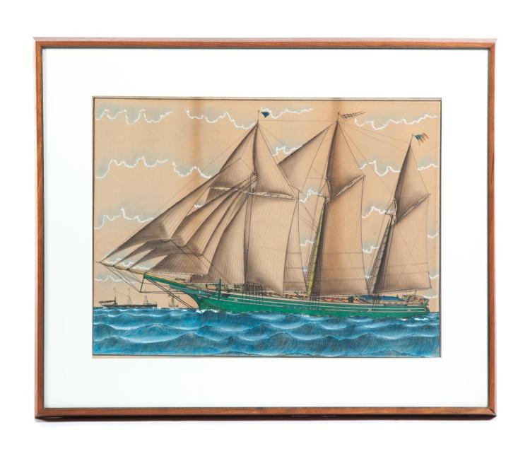 DRAWING OF THE SCHOONER QUEEN CITY.