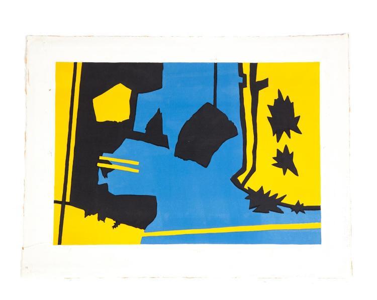 COLOGNE LANDSCAPE PRINT, RALSTON CRAWFORD (AMERICAN, 1906-1978).