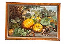 PUMPKIN PATCH BY FRIEDA VOELTER REDMOND (NEW YORK, B. 1857).