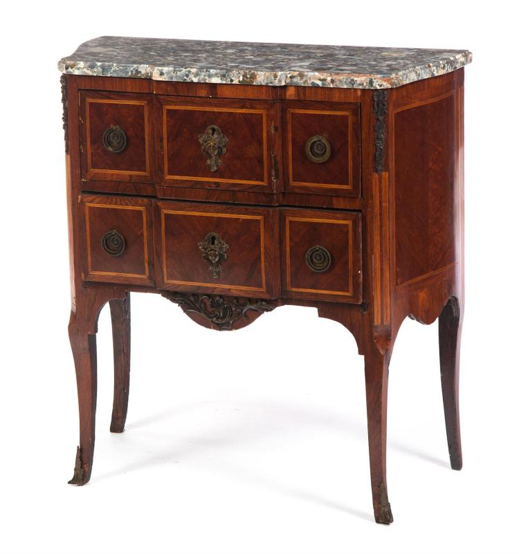 FRENCH-STYLE MARBLE TOP STAND.