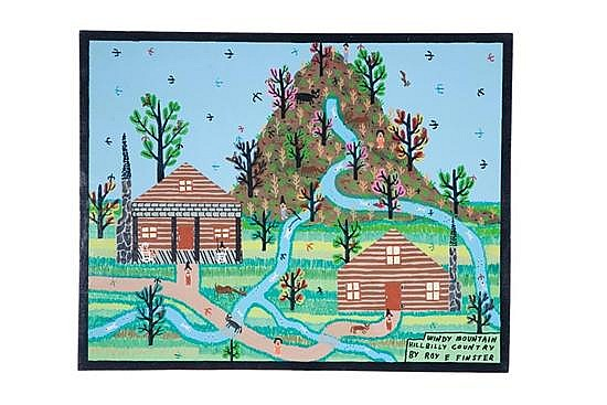 WINDY MOUNTAIN HILLBILLY COUNTRY BY ROY FINSTER (SUMMERVILLE, GEORGIA, B. 1941).