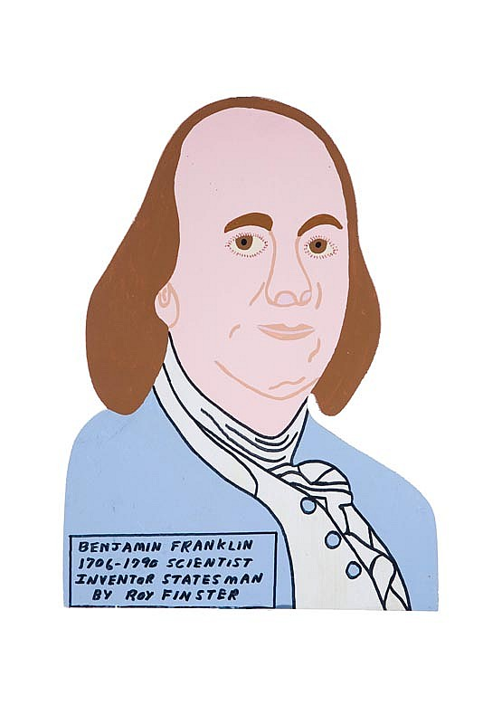 BEN FRANKLIN BY ROY FINSTER (SUMMERVILLE, GEORGIA, B. 1941).