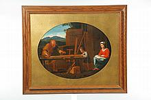 SCENE OF JOSEPH BUILDING A DOOR (EUROPEAN SCHOOL, 19TH CENTURY).