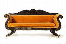 CARVED CLASSICAL SOFA.