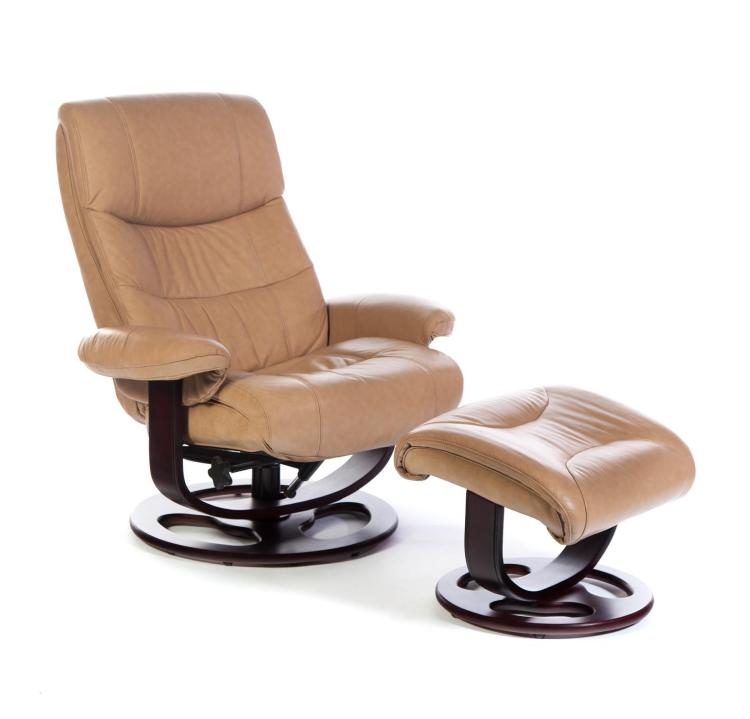 Leather Swivel Recliner And Ottoman Made For Quot Lane Quot
