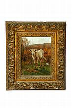 CALF BY GUY CARLETON WIGGINS (NEW YORK/CONNECTICUT, 1848-1932).