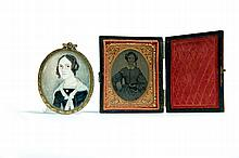 MINIATURE PORTRAIT ON IVORY (AMERICAN, 1ST HALF-19TH CENTURY).