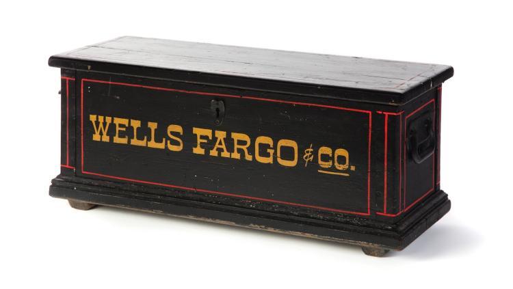Wells Fargo Company Painted Lock Box
