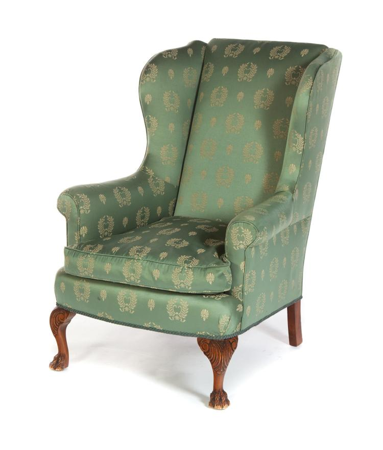 Chippendale Style Wing Back Armchair