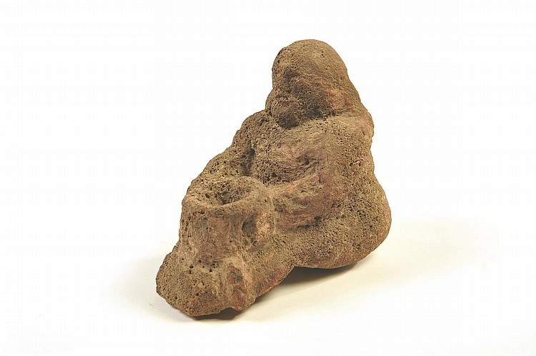 South american carved stone figure