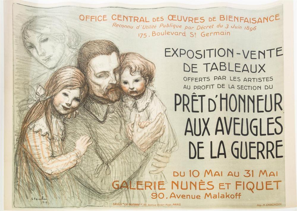 POSTER ADVERTISING EXPOSITION VENTE DE TABLEAUX.