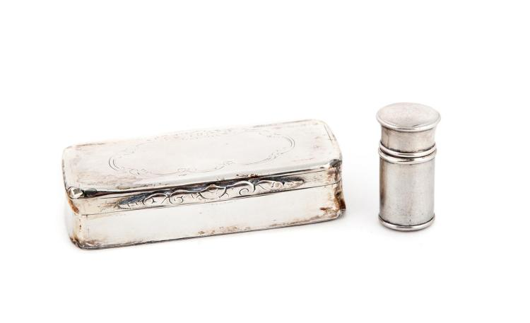 TWO STERLING SILVER VINAIGRETTES.