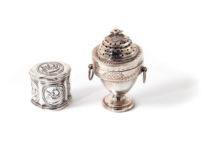 TWO SILVER VINAIGRETTES.