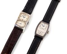 TWO GALLET & CO. WRISTWATCHES.