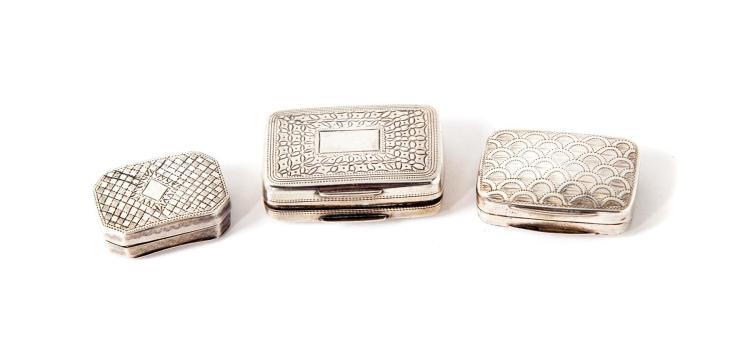 THREE STERLING SILVER VINAIGRETTES.