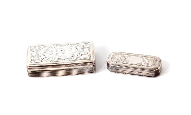 TWO STERLING SILVER ENGLISH VINAIGRETTES.