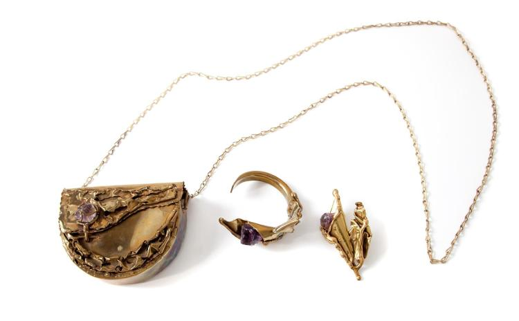 THREE VINTAGE BRASS PIECES FROM THE COPA COLLECTION.