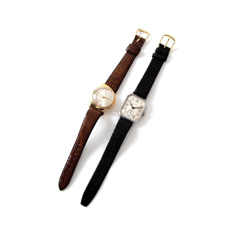 TWO VINTAGE WRISTWATCHES.