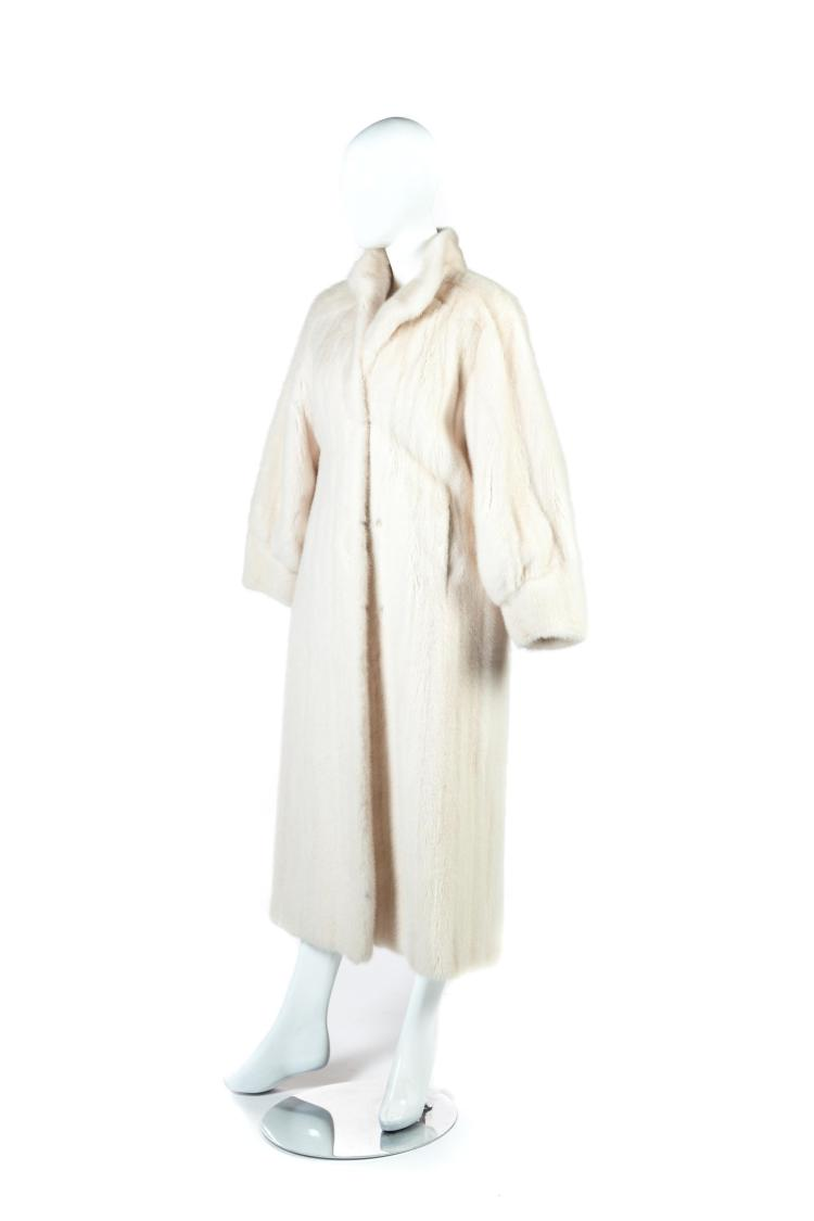 WHITE MINK COAT.