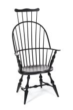 CONTEMPORARY COMB-BACK WINDSOR CHAIR.