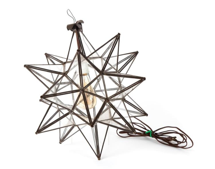 MORAVIAN-STYLE STAR-SHAPED CHANDELIER.