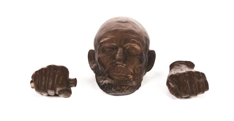 THREE PIECES OF ABRAHAM LINCOLN MEMORABILIA.