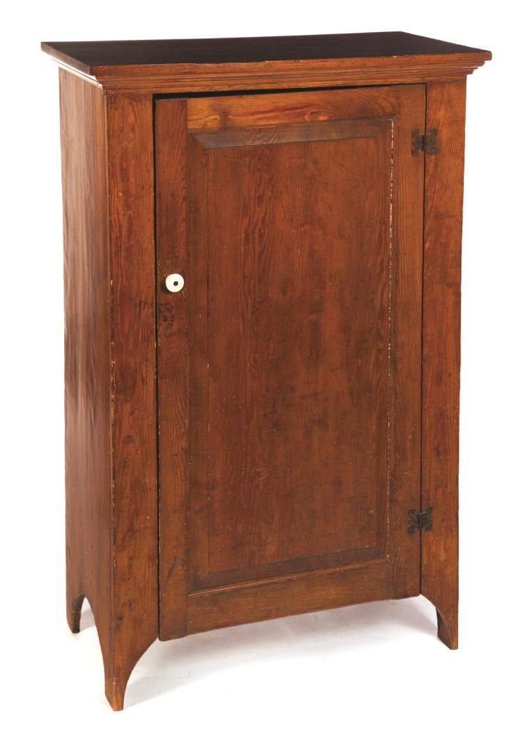 AMERICAN COUNTRY ONE-DOOR JELLY CUPBOARD.