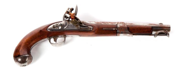 FLINTLOCK HORSE .54 CALIBER MODEL 1819 PISTOL STAMPED
