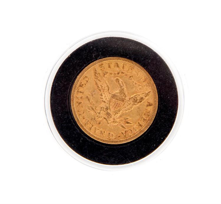1885-S HALF EAGLE.