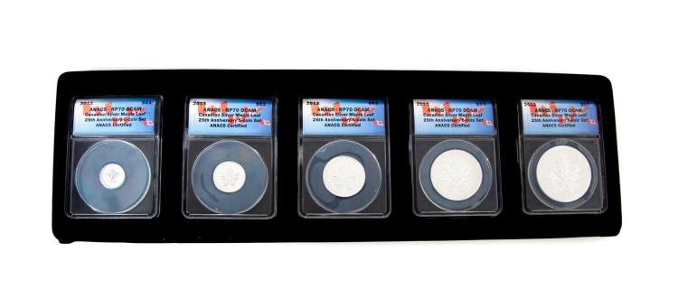 CANADIAN SILVER FIVE COIN SET.