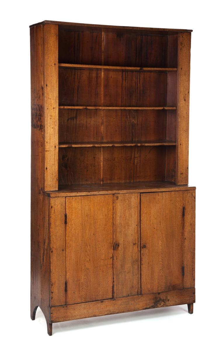 ONE-PIECE STEPBACK WALL CUPBOARD.