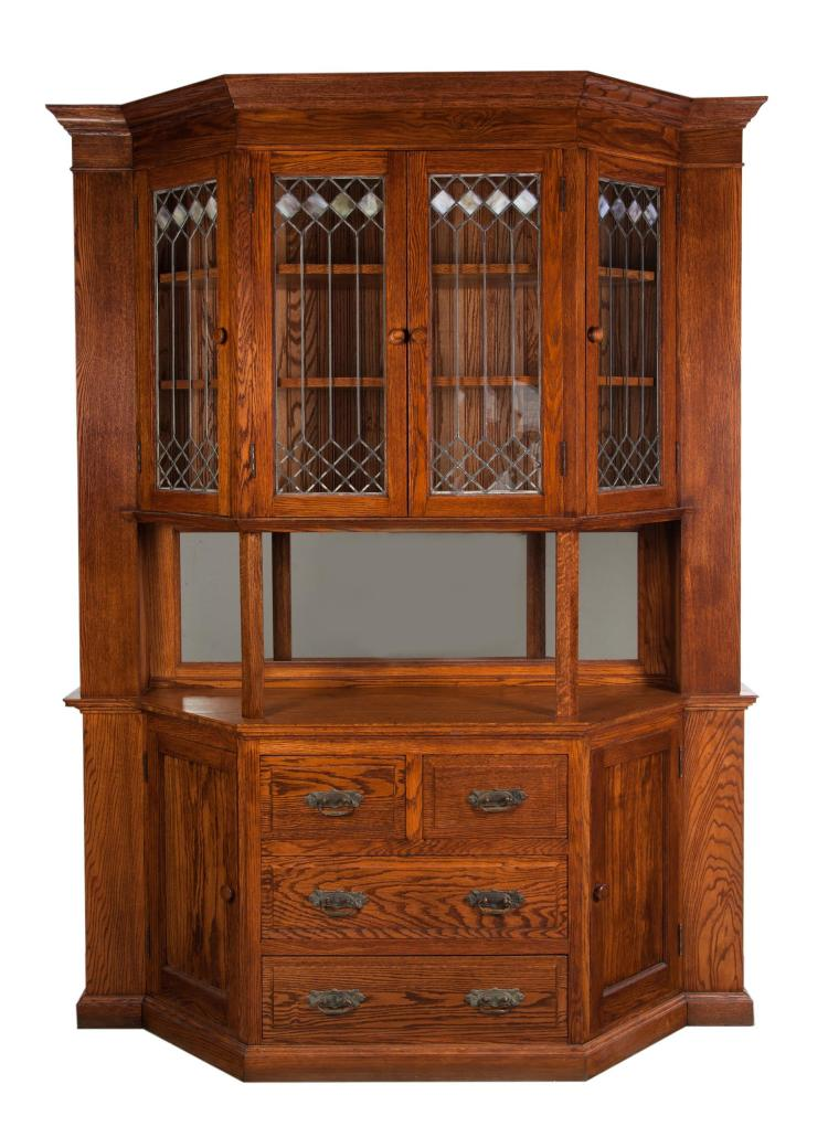 TWO-PIECE SIDEBOARD / CHINA CABINET.