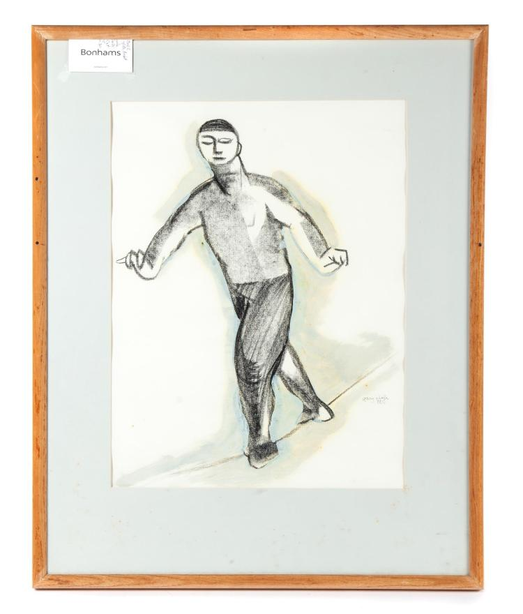 FRAMED AND MATTED SKETCH SIGNED GARY CHAFE.