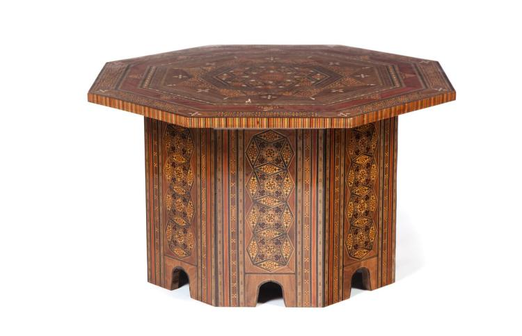 OCTAGONAL MIDDLE EASTERN-STYLE LOW TABLE.