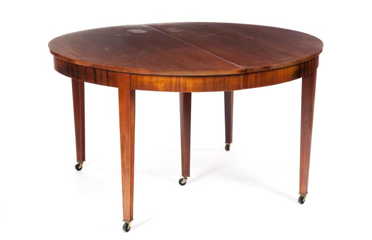 BIEDERMEIER-STYLE EXTENSION DINING TABLE.