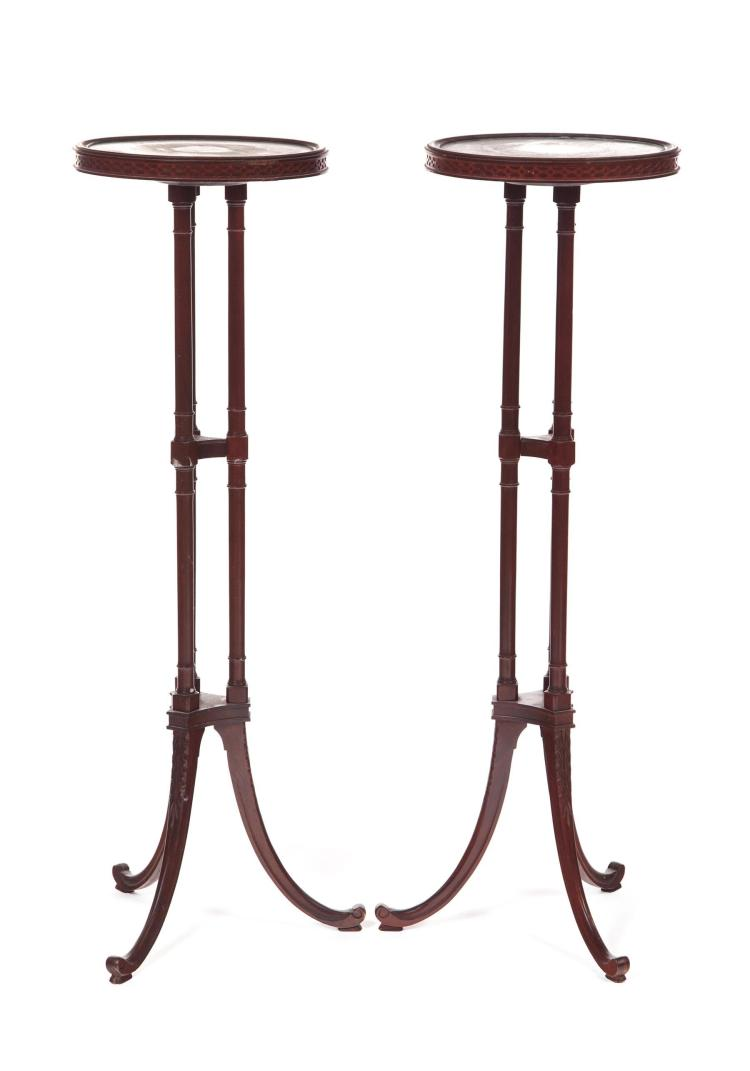 PAIR OF CLASSICAL-STYLE FERN STANDS.