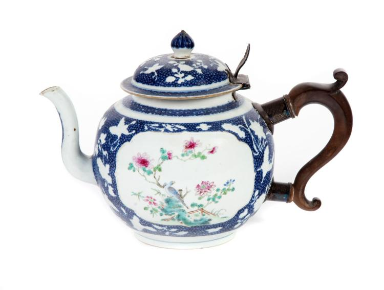 CHINESE EXPORT MAKE-DO TEAPOT.