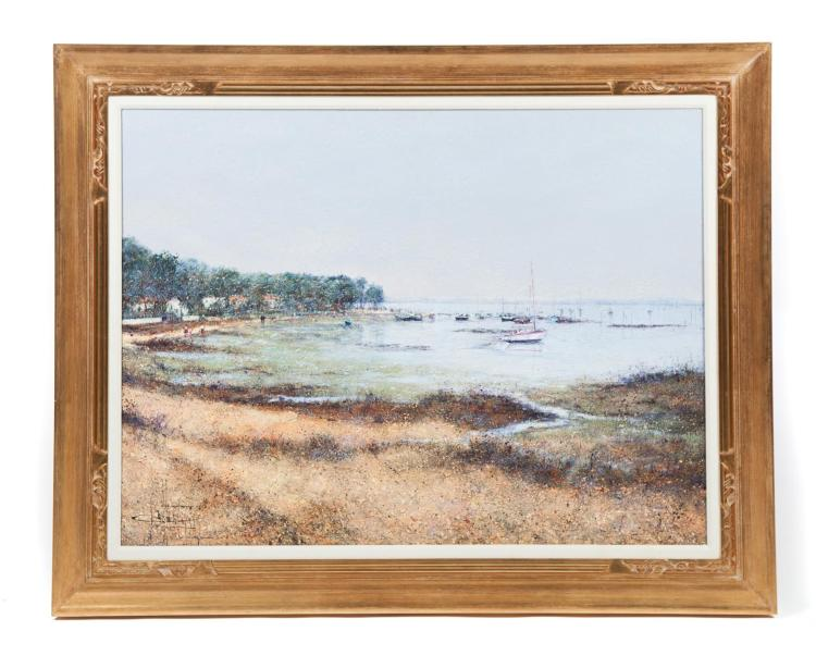 FRAMED OIL ON CANVAS LANDSCAPE SIGNED