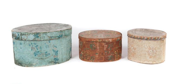 THREE COUNTRY WALLPAPER BOXES.