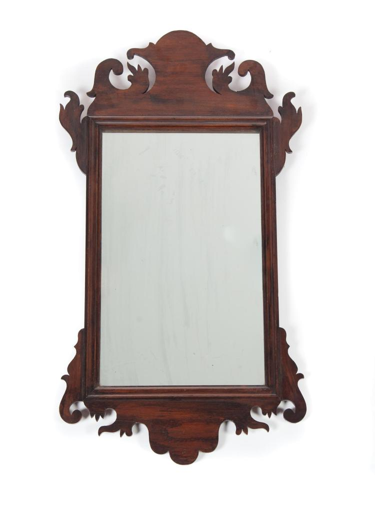 CHIPPENDALE-STYLE HANGING MIRROR.