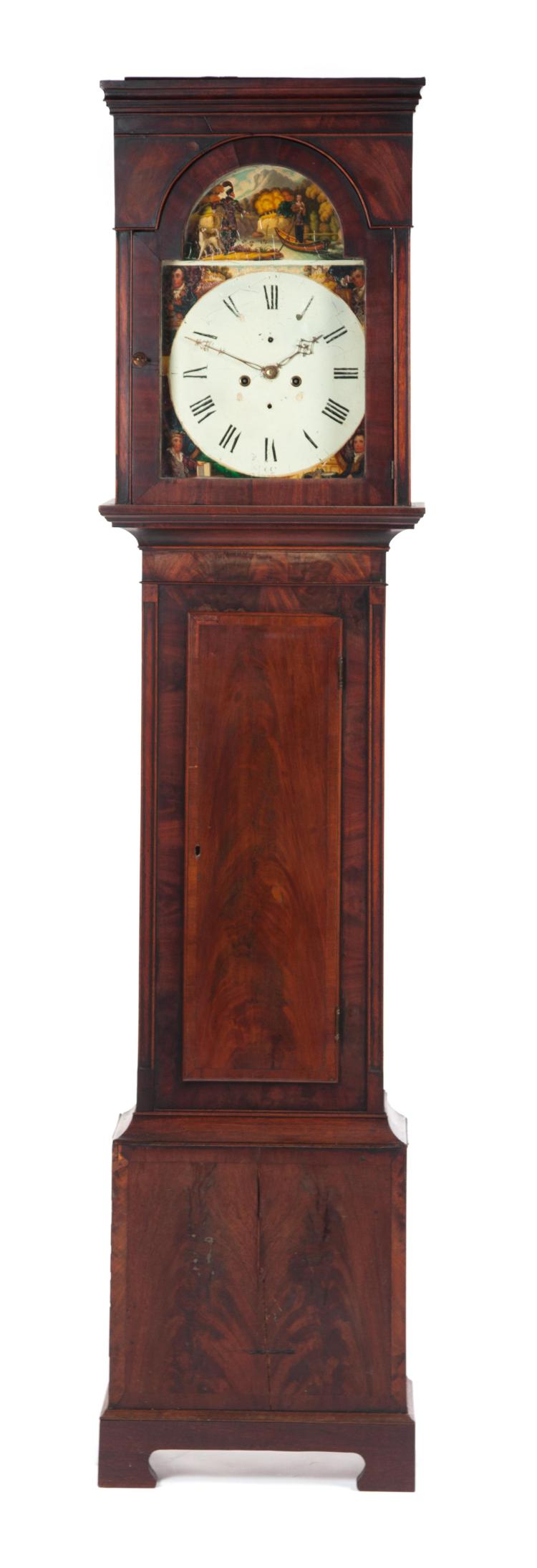 TALL CASE DOUBLE-WEIGHT CLOCK.