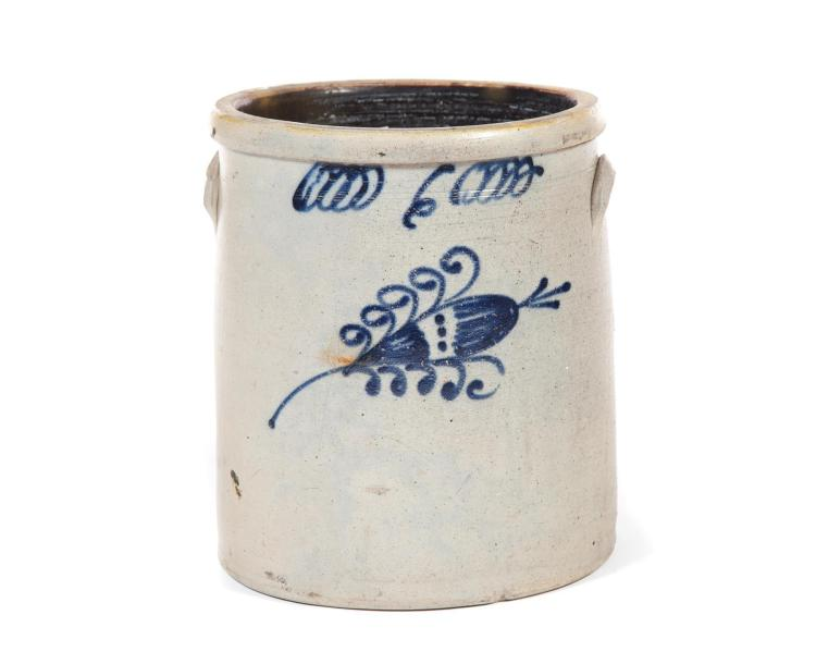 DECORATED STONEWARE JAR.