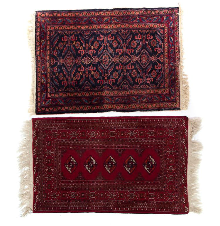 Two geometric area rugs for Geometric print area rugs