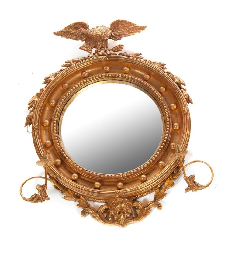 FEDERAL-STYLE MIRROR WITH EAGLE CREST.
