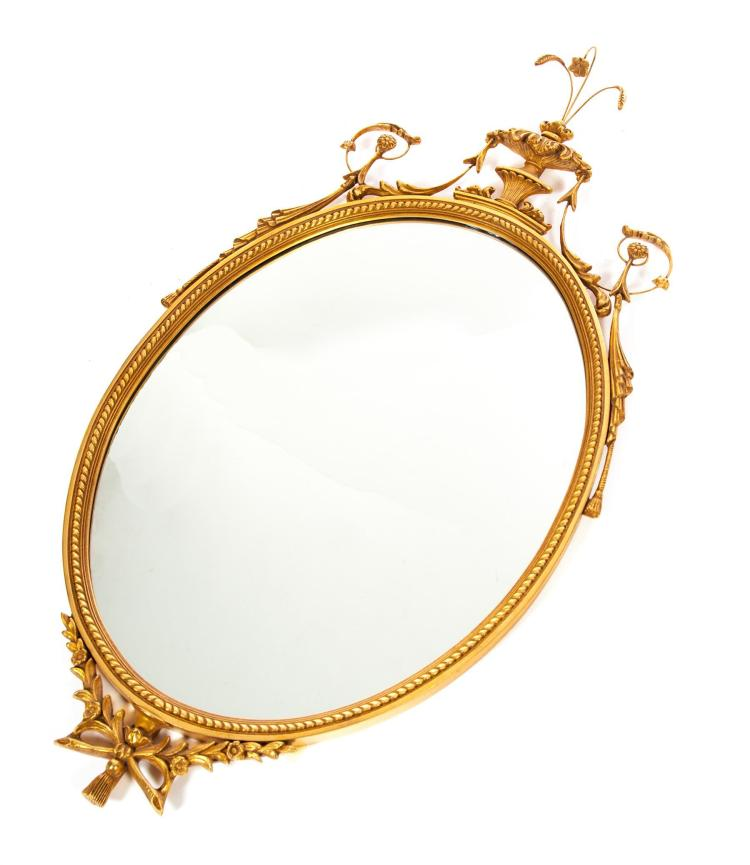 FEDERAL-STYLE GOLD LEAF MIRROR.