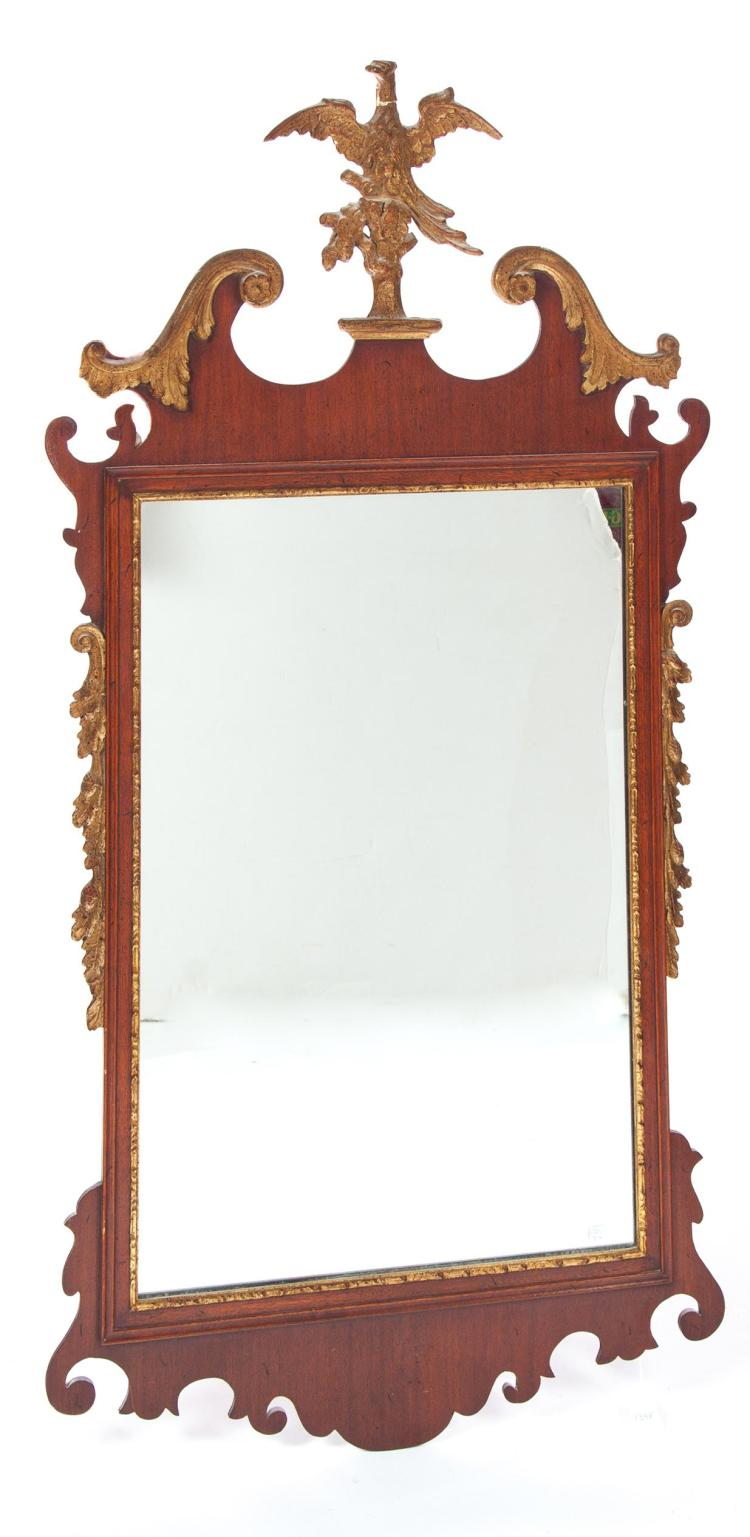 CHIPPENDALE-STYLE PHOENIX MIRROR.
