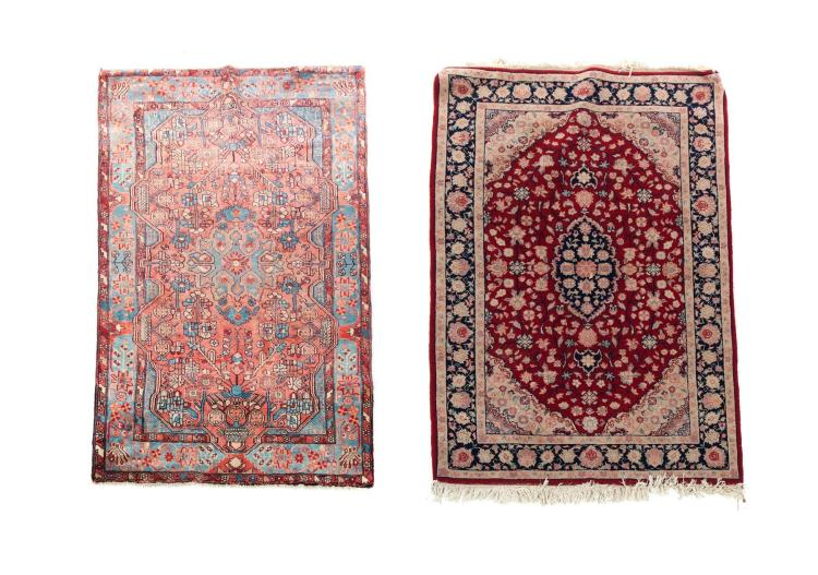 TWO HANDMADE ORIENTAL AREA RUGS.