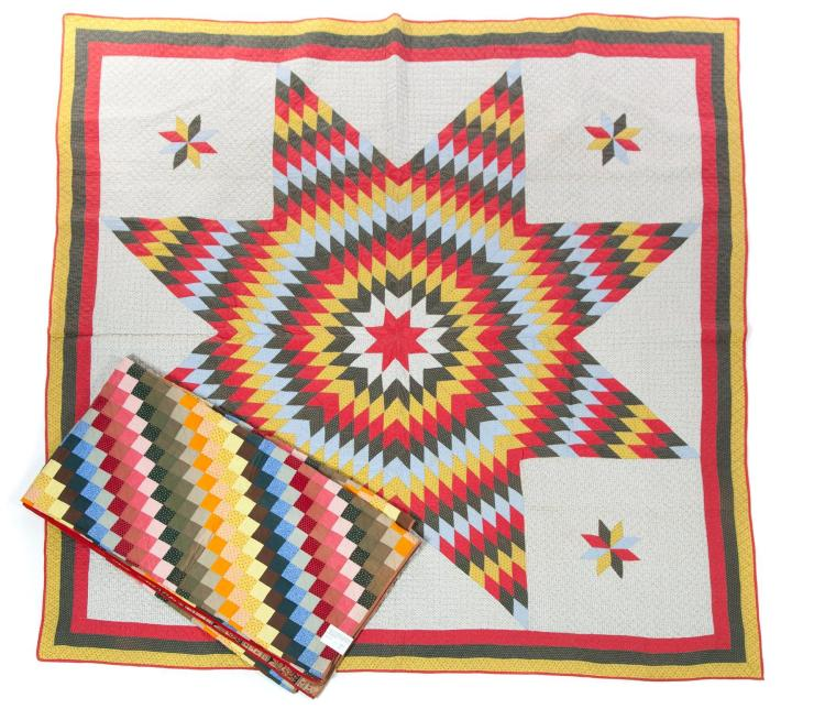 TWO AMERICAN QUILTS.